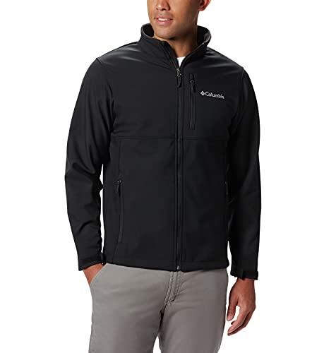 Columbia Men's Standard Ascender Softshell Jacket, Black, Large