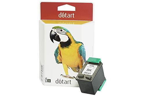 Cartucho de tinta remanufacturado HP 56 (c6656, C6656), color negro y compatible con impresoras HP Deskjet 5100, 5150, 5550, 5650, HP Officejet 4215 y 5510