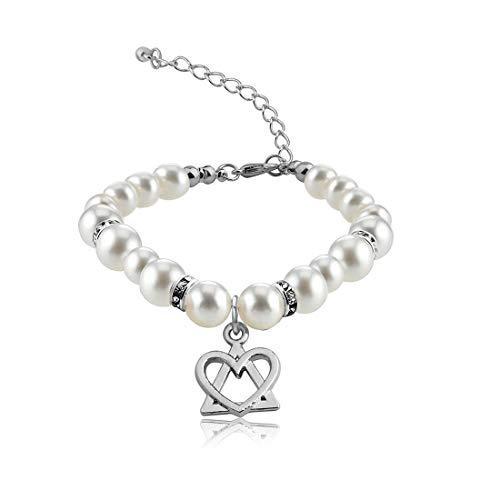 POTIY Adoption Gift Adoption Symbol Charm Pearl Bracelet for Adoptive...