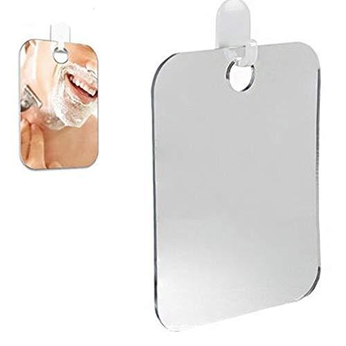 Acrylique Brouillard Douche Miroir Miroir Miroir Foggy Salle De Bains De Voyage Hommes Miroir Grossissant 13 * 17cm (Color : White)