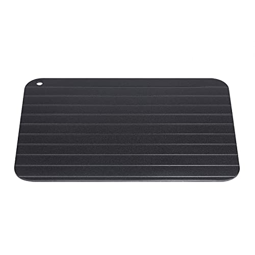 Deror Defrosting Tray, Wilecolly Metal Aluminum Fast Safe Food Meat Defrosting Thawing Tray Plate Home Kitchen Gadget Kitchen Accessories