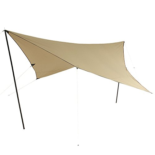 10T Tarp T/C 3x3 m Sonnensegel UV 80+ Sonnenschutz wasserdichtes Sonnendach Baumwoll-Mischgewebe