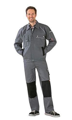 Planam Bundjacke Arbeitsjacke von Sortiment Canvas 320 58 Grau/Schwarz 58,Grau/Schwarz
