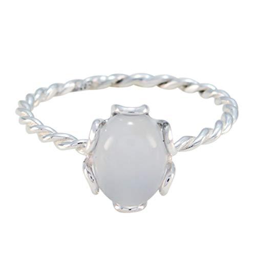 joyas plata gute edelsteine ovale form ein stein cabochon aqua chalcedon ring - sterling silber aqua chalcedon ring - dezember geburt schütze astrologie gute edelsteine ring