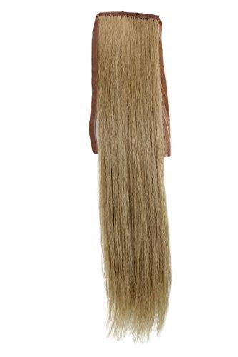 WIG ME UP - YZF-TS18-24 Haarteil, Zopf schmal Seitenzopf Cosplay Hell-Asch-Blond glatt 18inch/ 45cm Band Haar-Klammer Haarverlängerung