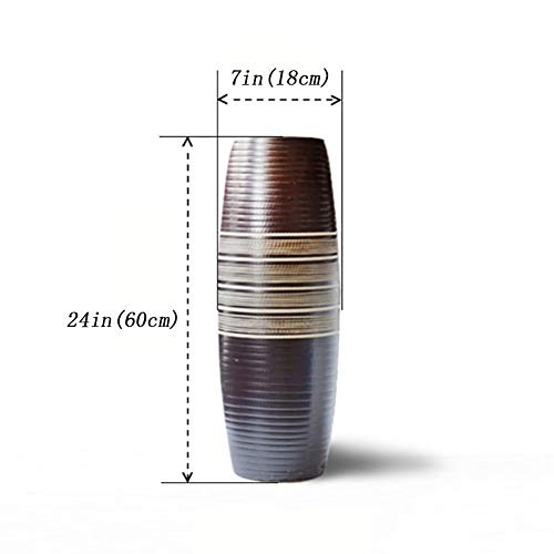 Coperta Porta ombrelli Tonda,Porcellana Cinese Portaombrelli Anticato Ceramiche Cinese per Fiore Vaso-A 18x18x60cm(7x7x24)