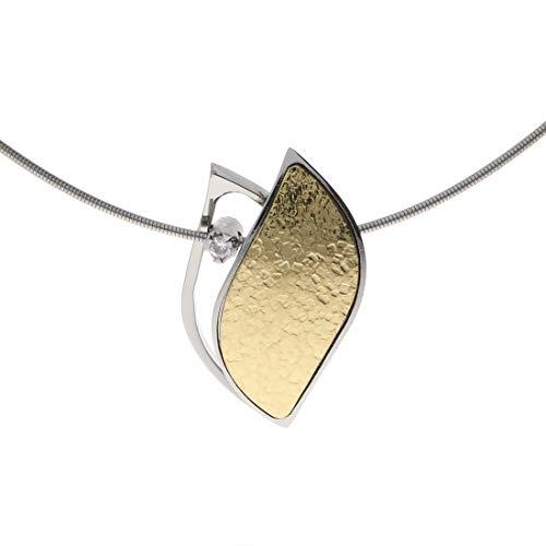 XEN Atelier Collier goldplattiert mit Diamant ca. 0,05 ct. 45 cm 45