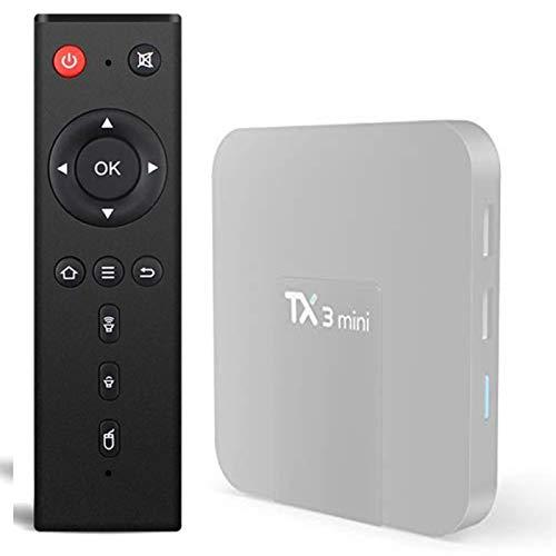 DaMohony Mando a distancia para TX3 Mini TX3 TX6mini, mando a distancia de repuesto para Android TV Box Controller para TX3 Mini TX3 Pro TX6 Mini TX5 Pro TX2 TX9 TX92 TX6 Android TV Box