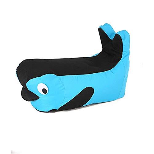 WYZQ Armchairs Marshmallow Furniture Bean Bag Children Sofa Cute Boy Girl Small Sofa Seat (Gray blue,75 * 30 * 33cm) (Black Blue,75 * 30 * 33cm),Furniture