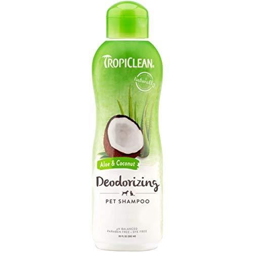 TropiClean Aloe & Coconut Deodorizing Shampoo for Pets, 20oz - Helps...