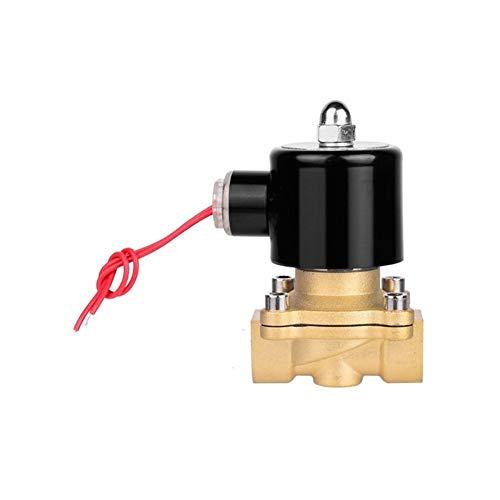 Interruptor de la válvula de bola Válvula de control electromagnética eléctrica de flujo neumático normalmente cerrado 2 Formas de riego Osmosis Inversa Sistemas de Agua Aceite Un 1/2' AC220V
