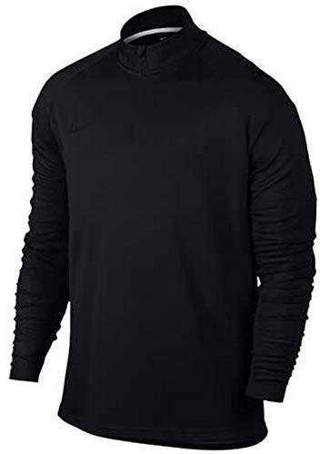 Nike Dry Academy Drill, T Shirt con Zip Uomo, Black/Black/Black, XL