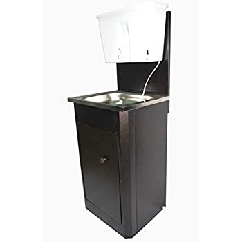 Lavabo mobile en acier inoxydable pour eau chaude