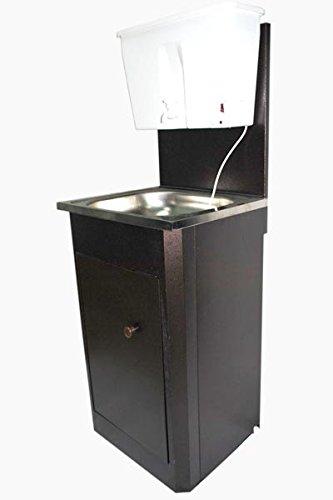 Mobiles Handwaschbecken Edelstahl Warmwasser Waschstation