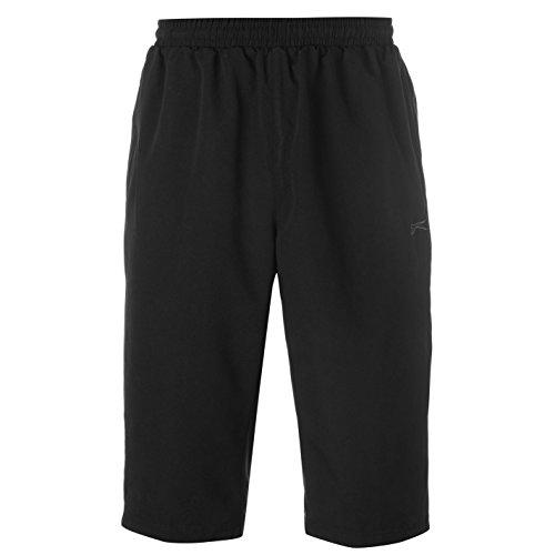 Slazenger Herren SL Woven 3/4 Trainingshose Shorts Schwarz XXXL
