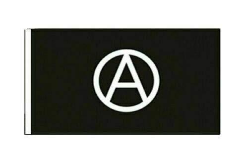 FlagSuperstore© Anarchie-Bootsflagge, 45,7 x 30,5 cm, Baumhäuser, Wohnwagen, mit Ärmeln, 45 x 30 cm