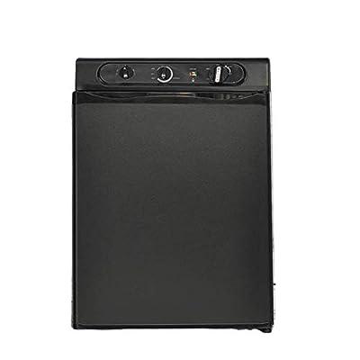 Smad 3 Way Caravan Propane Fridge 120V 12V LPG Gas Refrigerator for Motorhome RV Campervan, Black, 2.1 Cu.ft.