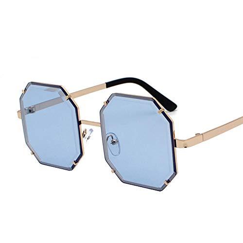 DLSM Fashion Square Gafas de Sol Unisex Gafas de Sol de Las Mujeres UV400 Vídeos Vintage Pesca Golf Conducción Montañismo Outdoor Sports Sunglasses-C3 Azul