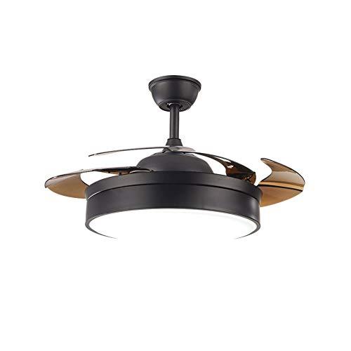 OUKANING Ventilador de techo LED con iluminación y mando a distancia,3 velocidades,3 cambios de color, ventilador regulable, motor silencioso,36W de luz y motor de 58W con temporizador,Para salón