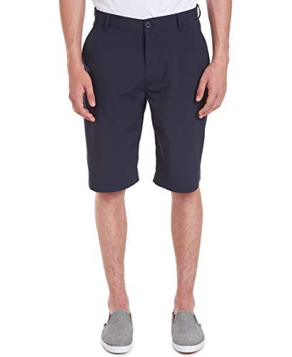 Chaps Uniform Young Men's Flat Front Short Shorts, -Navy, 36