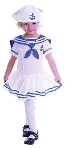Mädchen Sailor Girl Kleinkinder Kostüm für Marineblau Fancy Kleid Outfit Kind