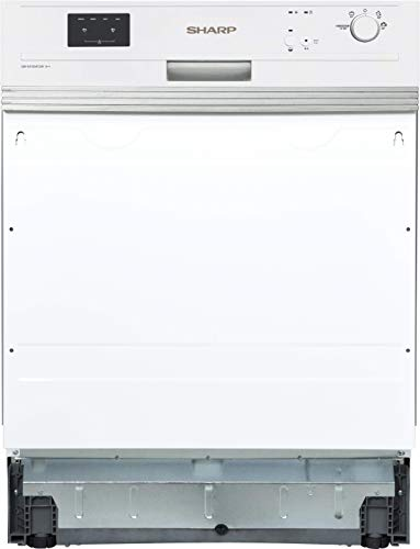 Sharp QW-GX13S472W-DE Teilintegrierbarer Geschirrspüler 60cm / A++ / 13 Maßgedecke / 4 Programme / Weiß