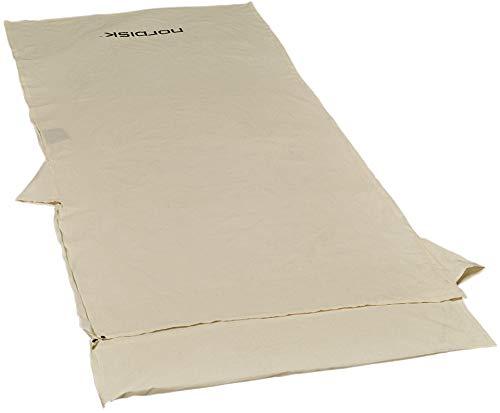 Nordisk Cotton Liner deckenförmiges Schlafsackinlett Baumwollinlett, Beige Blanket