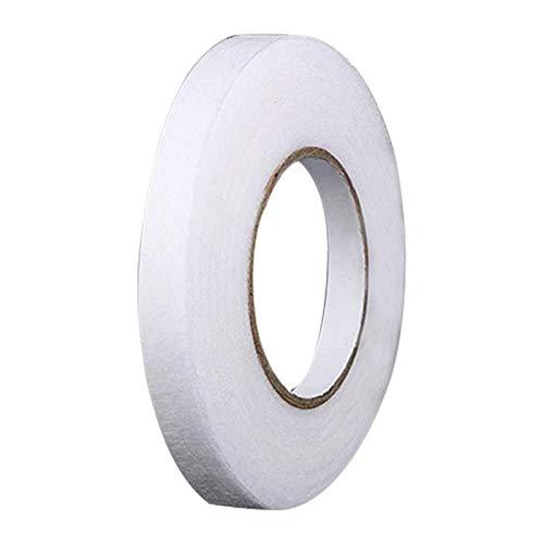 DELITLS Cinta de fusión de tela de 70 yardas en el dobladillo, cinta adhesiva para planchar, 10 mm 15 mm 20 mm de ancho para ropa (blanco, tamaño: 1,0 cm)