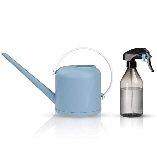 junyimaoyi Watering Can, Transparent Long Spout Watering Kettle Nordic Style Garden Watering Pot for Indoor and Outdoor Watering Plants and Potted Flowers