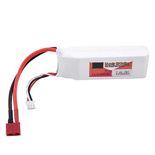 Dilwe Batería LiPo RC, ZOP Power 2S 7.4V 2200mAh 5000mAh 3500mAh 5500mAh 4500mAh Batería LiPo Recargable con T-Plug para RC Coche RC Avión o Barco(2200mAh 35C)