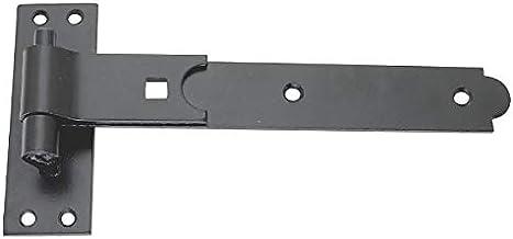 2 x Platte Haak & Band SHED Deurscharnieren Staal Zwart 300mm x 38mm x 4.5mm