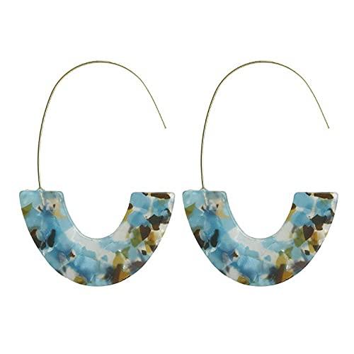 Pendientes para niñas, QWEA 20 pares / juego de aretes de aro en forma de U acrílicos con estampado de leopardo bohemio adecuados para accesorios de banquete de boda de damas
