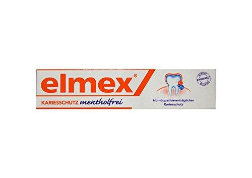 ELMEX mentholfrei Zahnpasta mit Faltschachtel 75ml PZN 04919378 Kariesschutz