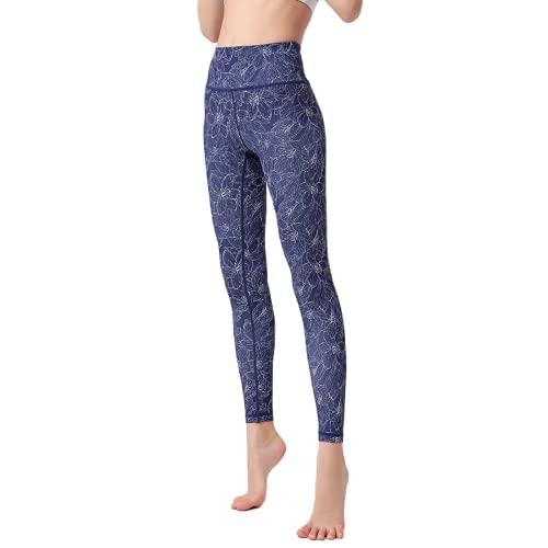 QTJY Pantalones de Yoga de Leggings de Fitness, Deportes al Aire Libre para Damas Que Ejecutan Leggings Estampados de Levantamiento de glúteos de Cintura Alta AS