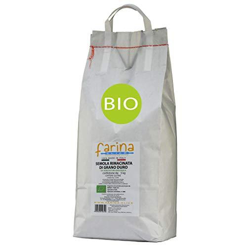 5 kg semola rimacinata biologica di grano duro italiano BIO per PANE panzerotti focaccia ecc