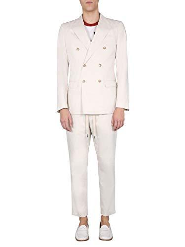 DOLCE E GABBANA Luxury Fashion Herren GKO9ETFU5SZW3789 Weiss Baumwolle Anzuge   Ss21