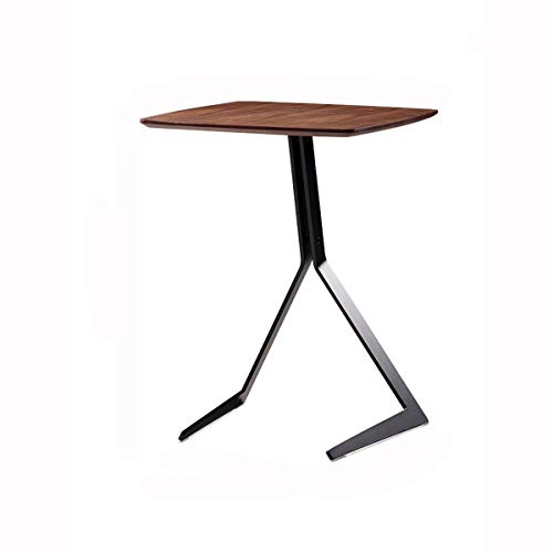 BHJqsy Coffee table industrial tilting wood and metal coffee table, 44 x 59 cm, walnut Nest Tables
