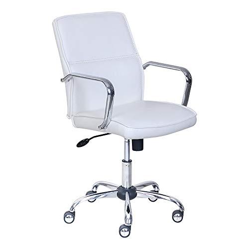 Jiamuxiangsi bureaustoel, draaistoel, leer, wit, conferentiestoel, bureaustoel