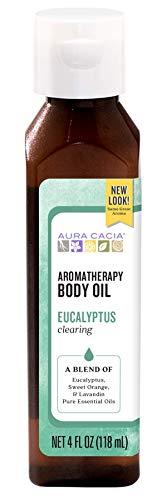 Aura Cacia Clearing Eucalyptus Aromatherapy Body Oil | 4 fl. oz.