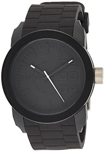 Diesel Herren Analog Quarz Uhr mit Silikon Armband DZ1437
