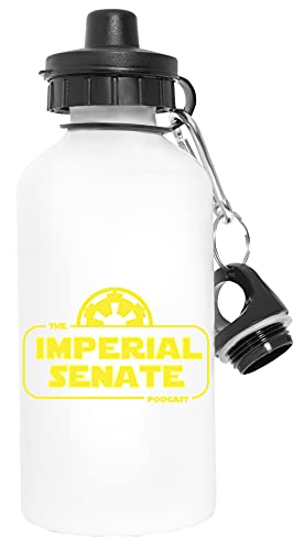 Imperial Senate Logo - Imperial Senate Podcast Deporte Viaje Blanco Botella De Agua Metal Prueba de Fugas Sport Travel White Water Bottle Leak-Proof