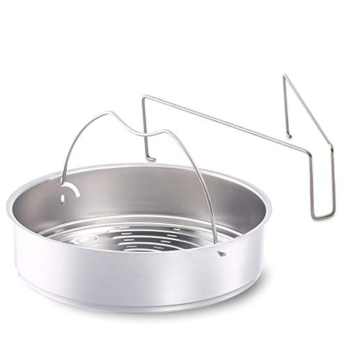Fissler Schnellkochtopf Einsatz, Dünsteinsatz – Dämpfeinsatz gelocht – 22 cm Durchmesser, inklusive Dreibein – 610-300-00-800/0