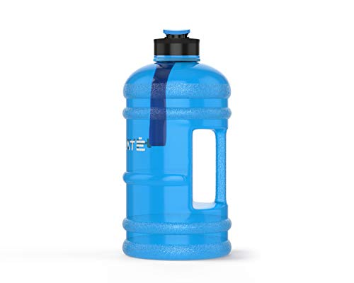 HYDRATE XL Jug 2.2 Litre Water Bottle - BPA Free, Flip Cap, Ideal for Gym - Colour Options (Blue)