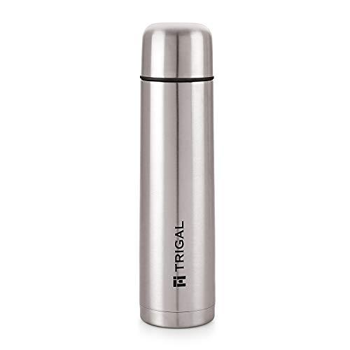 Trigal Thermos Steel Plain Lid Flask, 1000 ml, Silver