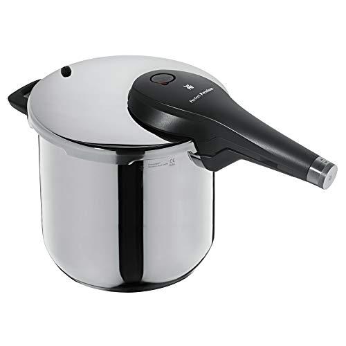 WMF Perfect Premium Schnellkochtopf Induktion 6,5l, Dampftopf 22 cm, Cromargan Edelstahl poliert, 2 Kochstufen, All-In-One-Drehknopf