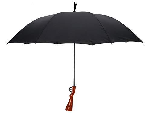 CoolChange Gewehr Regenschirm Karabiner, 120cm, Schwarz