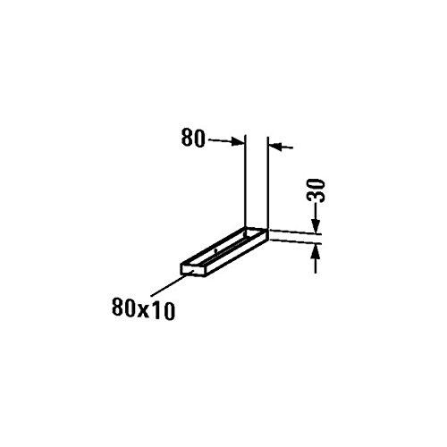 Duravit Vero Handtuchhalter für Konsole, 9960, 80x548 mm, Chrom