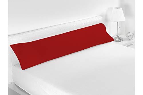 SABANALIA - Funda de Almohada Combina (Disponible en Varios tamaños y Colores), Cama 135-155 x 45, Rojo