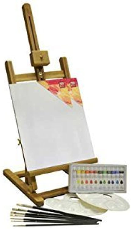 Bizili Acrylic Painting Box and Easel Set  24 Pieces. by Bizili