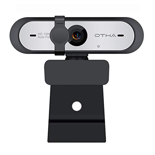 OTHA Webcam Full HD 1080p 60FPS con Micrófono de Enfoque Automático para OBS Live Streaming, PC Cámara Web con Corrección...